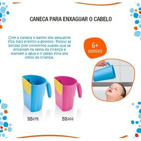 Caneca Rosa Enxaguar Cabelo De Bebê Borda Flexivel Multikids