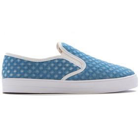 Zapato Dama Casual Excelente Calidad Azul Claro   Erez