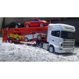 Caminhão De Controle Remoto Scania 124 E Carreta Cegonha