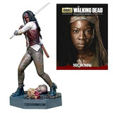 Michone Figura Walking Dead Resina De Metal Y Comic #3