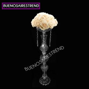 Porta Bouquet De Vidrio Pie De Topiario Arreglo Floral 50cm