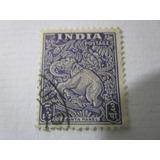 Estampilla Antigua India Ajanta Panel Elefante L33