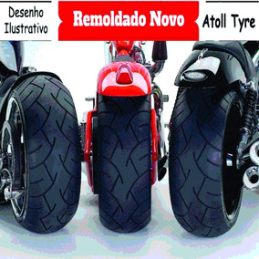 Pneu Moto 120/80/18 Tril Remold - Tornado Traseira