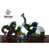 Elefantes Decorativos De Madera Con Acabado De Vidrio