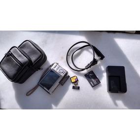 Camera Casio Exilim 7,2mp(funcionando)+ Bolsa + Cartão Sdduo