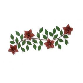 Moldura De Parede Área Externa Decorativa Com Flores Ferro