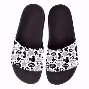 Chinelo Slide Beach Mickey Minnie Feminina Sandalia Rasteira