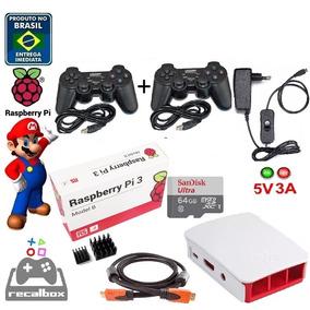 Game Raspberry Pi 3 Recalbox 4.1.2 + 2 Controles 64gb C10