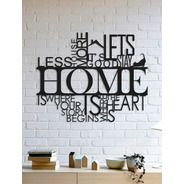 Quadro Decorativo Parede Escritas Less House 1,10m
