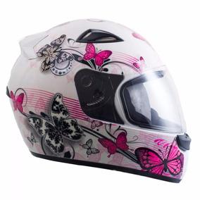 Capacete Moto Ebf Feminino New Spark Borboleta Varias Cores