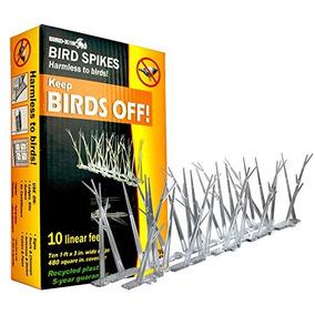 Bird-x De Aves De Policarbonato Plástico Spikes Kit Con Pega