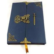Grimório Maçom Artesanal Capa Externa Corano Azul
