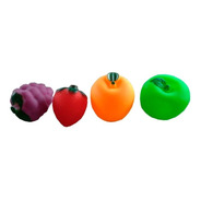 Brinquedo Frutas De Borracha Para Banho Comidas Macio