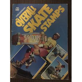 Álbum Figurinhas Antigo Overall Skate Stamps Com 16 Cromos
