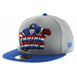 Boné New Era Capitão America Marvel 59fifty Original 1magnus