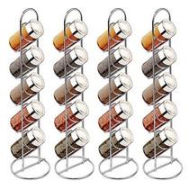 Porta Condimento Tempero Vidro Suporte Vertical 20 Potes