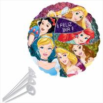 10 Globos Metalicos De Princesas Disney + Regalo ¡oferta!