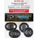 Combo Estereo Reproductor Con 4 Bocinas 6 1/2, 6x9 Hfpkd110u