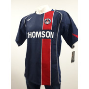 Jersey Nike Club Psg Local Azul/rojo 2004/2005 De Epoca