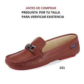 Mocasin Polo Hpc Para Dama Color Rojo Mod. 8085