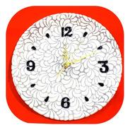 Reloj Blanco De Talavera Poblana Barroco 30 Cm Rjl