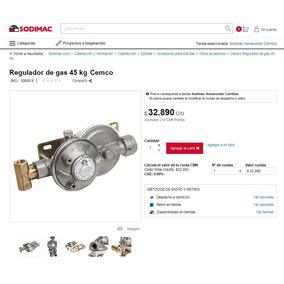 Regulador De Gas 45 Kg Cemco Certificado Sec Remate