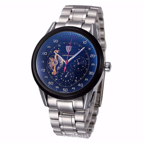 Reloj Tevise 8378 Caballero Mecanico Caratula Negra De Lujo