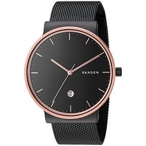 456ce25290de RM (Metropolitana) · Skagen Hombre Skw6296 Ancher Negro Malla Reloj