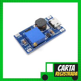 Regulador De Tensão Step Up Mt3608 2a Dc-dc Usb - Carta R.