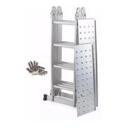 Guantes Y Escalera De Aluminio Con Chapon Articulada 4x4