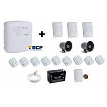 Kit Alarme Ecp Maxcell4 Gsm + Sirene Corneta + Sensores