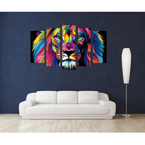 Leon Power Full Canvas Bastidor 120x80 Cm Exelente Envios