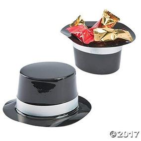 Docena De Mini Plástico Negro Sombrero De Copa Fiesta De Cu 190678836cb