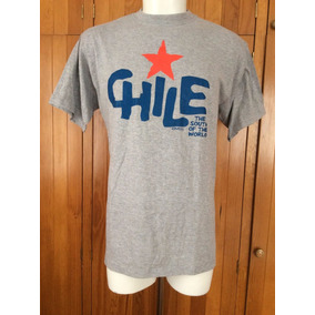 Playera T Shirt Chile Marca Kompass Chilean Ethinc Design