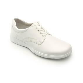 Zapato Flexi Blanco Dama Agujeta Servicio Clínico 95401