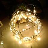 Fio De Led 5m 50leds Decoração Pilha Iluminação Luz Fixa