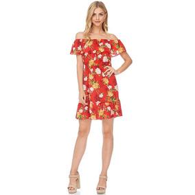 Verano 2018 - Vestido Fluido Hombros Volantes Flores