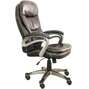 Cadeira Presidente Em Couro Sintético Rodizio Em Pu, Relax