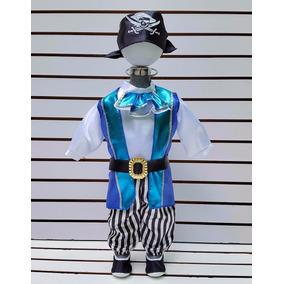 Disfraz Bebe 24 Meses Pirata Halloween Saco Pantalon Camisa
