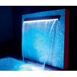 Cascata Para Piscina Com Led Iluminação De Embutir 120 Cm