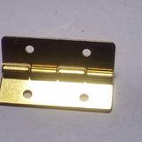 10 Mini Bisagras De Acero Bronceado 20 X 13mm.