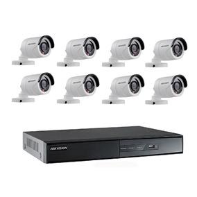 Kit Monitoramento Hikvision Dvr 8 Canais+8 Câmeras Hd 1080p
