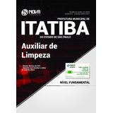 Apostila Itatiba Sp 2017 - Auxiliar De Limpeza