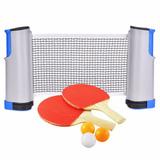 Rede Retratil 1,70m Tenis Mesa Ping Pong + Raquetes Bolinha