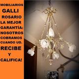 Mobiliarios Galli Antigua Lámpara 5 Luces Francesa Legítima