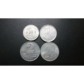 Moedas Nacionais De Alumínio Cruzeiro Década De 60