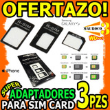 Adaptador De Nano Sim A Micro Y Sim Card Kit 3 Iphone 5 Wow