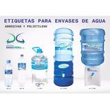 Etiquetas Para Botellas De Agua - Sticker - Polietileno