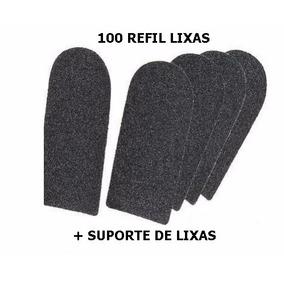 Lixa Para Pé 100 Unidades+1 Cabo- Refil Descartavel