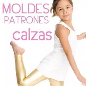 Moldes Patrones Calzas Leggings Nenas T 2 4 6 8 10 Ev.gratis